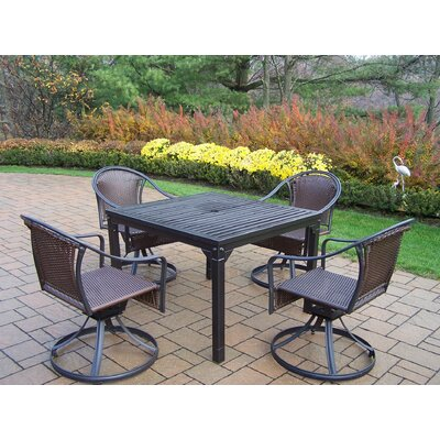 Rochester 5 Piece Swivel Dining Set
