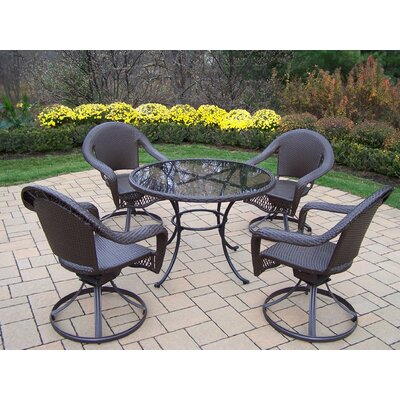Oakland Living Elite Resin Wicker 5 Piece Swivel Dining Set at Sears.com