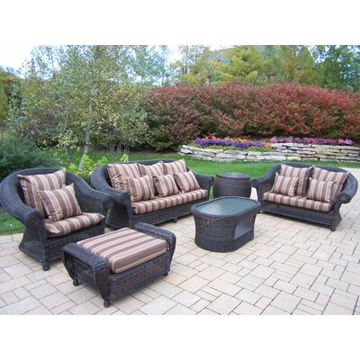 Cambridge 6-Piece Wicker Conversation Set with Cushions