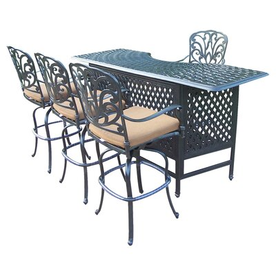Hampton 5 Piece Party Bar Set with Sunbrella Cushion