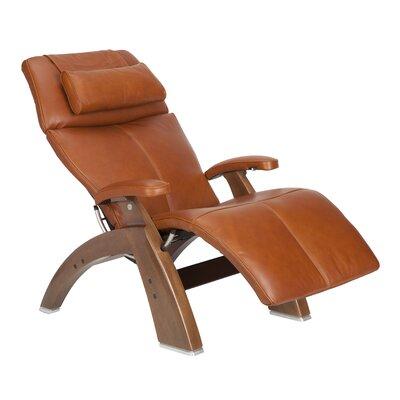 Human Touch Perfect Chair Classic Power Zero-Gravity Recliner - Color: Cognac Premium, Finish: Walnut