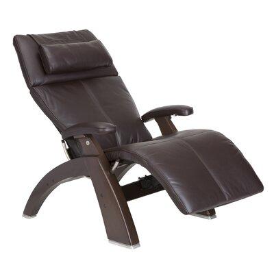 Human Touch Perfect Chair Silhouette Zero-Gravity Leather Recliner - Color: Espresso Premium, Finish: Dark Walnut