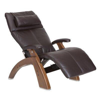 Human Touch Perfect Chair Silhouette Zero-Gravity Recliner - Finish: Walnut Color: Espresso Top-Grain
