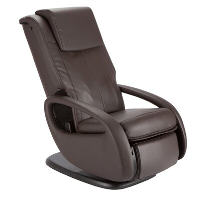 WholeBody 7.1 Faux Leather Heated Massage Chair Upholstery: Espresso