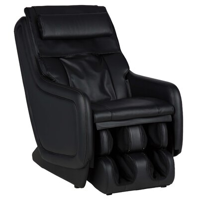 ZeroG� 5.0 SofHyde Heated Massage Chair Upholstery: Black