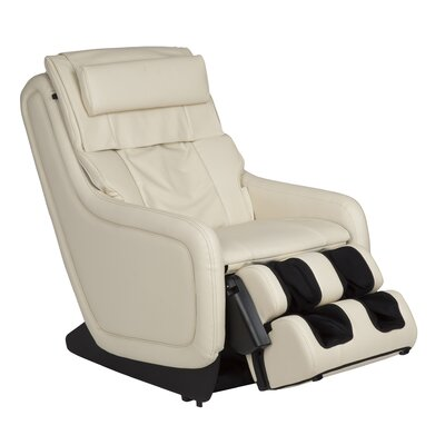 ZeroG 5.0 SofHyde Heated Massage Chair Upholstery: Bone