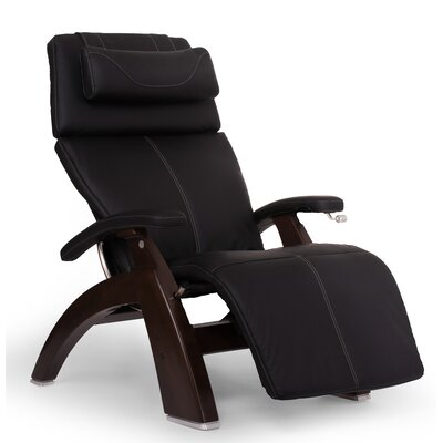 Perfect Chair� PC-420 ClassicPlus Zero-Gravity Recliner Color: Black, Finish: Dark Walnut, Leather Type: Faux Leather