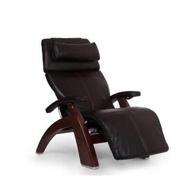 Perfect Chair� Power Glider Recliner Finish: Walnut, Upholstery: Espresso, Leather Type: Full Grain Leather