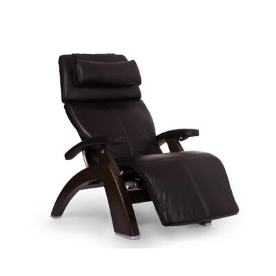 Perfect Chair� PC-610 Omni-Motion Classic Zero-Gravity Recliner Upholstery: Espresso, Finish: Dark Walnut, Leather Type: Full Grain Leather