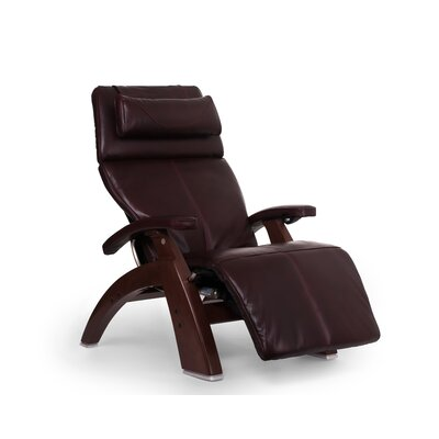 Perfect Chair� PC-610 Omni-Motion Classic Zero-Gravity Recliner Upholstery: Burgundy, Finish: Chestnut, Leather Type: Full Grain Leather