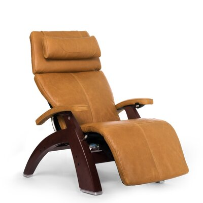 Perfect Chair� PC-610 Omni-Motion Classic Zero-Gravity Recliner Upholstery: Sycamore, Finish: Chestnut, Leather Type: Full Grain Leather