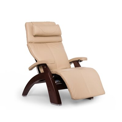 Perfect Chair� PC-610 Omni-Motion Classic Zero-Gravity Recliner Upholstery: Ivory, Finish: Chestnut, Leather Type: Full Grain Leather