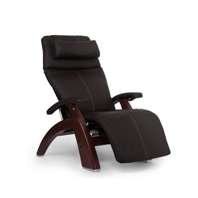 Perfect Chair� PC-610 Omni-Motion Classic Zero-Gravity Recliner Upholstery: Espresso, Finish: Chestnut, Leather Type: Top Grain Leather