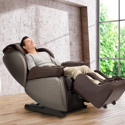 Navitas Sleep 4D Zero-Gravity Complete Massage Chair Upholstery: Light Brown