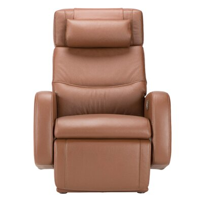Zero-Gravity Leather Recliner Color: Barista