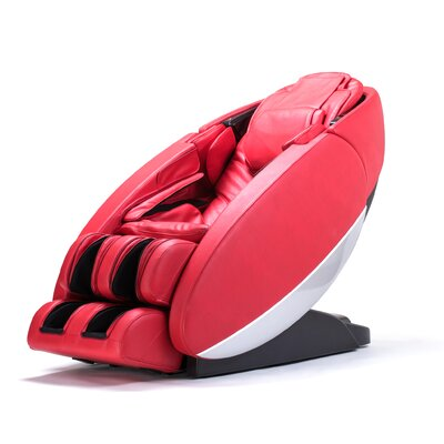 NovoXT Zero Gravity Massage Chair Upholstery: Red