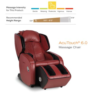 AcuTouch 6.0 Reclining Massage Chair Color: Black