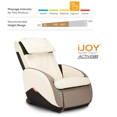 iJoy Active�2.0 Perfect Fit Reclining Massage Chair Upholstery: Espresso
