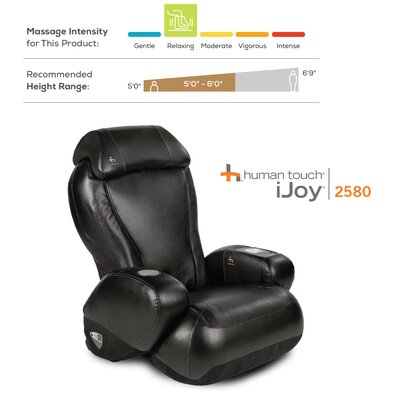 iJoy-2580 Premium Robotic Massage Chair Upholstery: Black SofHyde