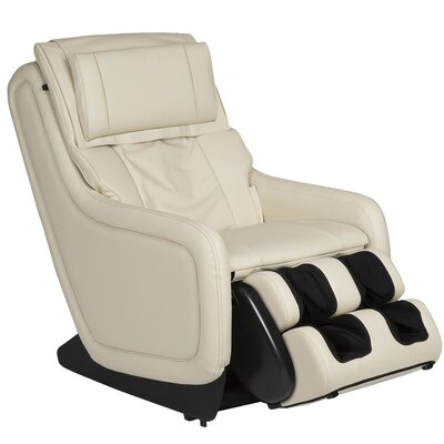ZeroG 3.0 Leather Zero Gravity Massage Chair Upholstery: Bone