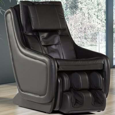 ZeroG 3.0 Leather Zero Gravity Massage Chair Upholstery: Black