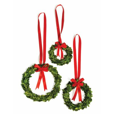NAPA HOME & GARDEN Preserved Greens 3 Piece Wreath Set - Color: Red at Sears.com