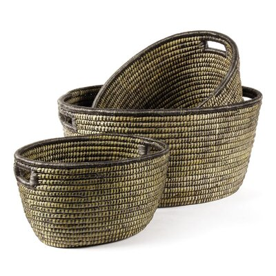 Rivergrass 3 Piece Round Basket Set