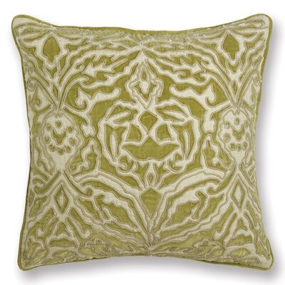 Rive Gauche Serena Throw Pillow Color: Green
