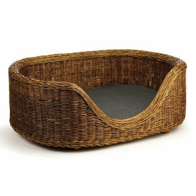 Aldo Rattan Bolster Dog Bed Size: Large (23 W x 31.5 D)
