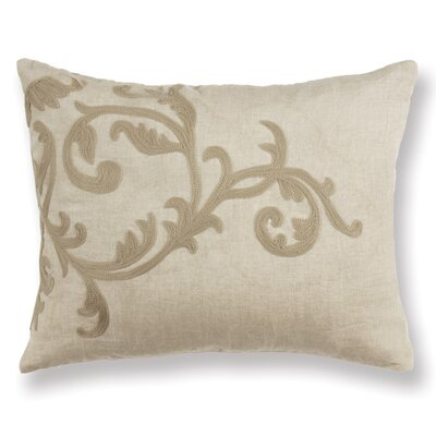 Santo Pietro Scroll Linen Lumbar Pillow