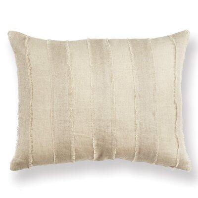 Jopling Cosette Tattered Stripe Linen Throw Pillow