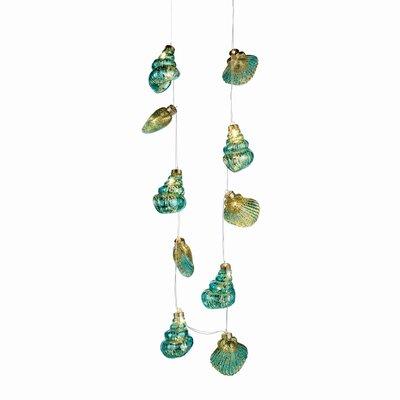 Glass Seashell 10 Light String Light (Set of 2) HLDS6656