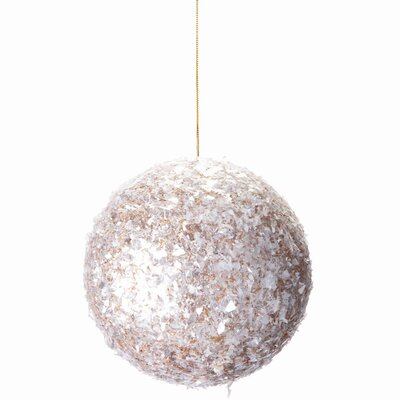 Mica Ball Ornament (Set of 12) Color: Clear Gold