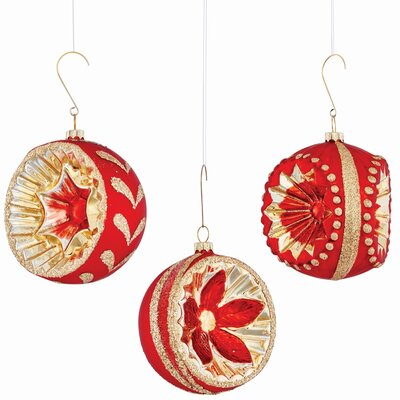 Glass Reflector Shaped Ornament Set (Set of 2) THDA2457 42004294
