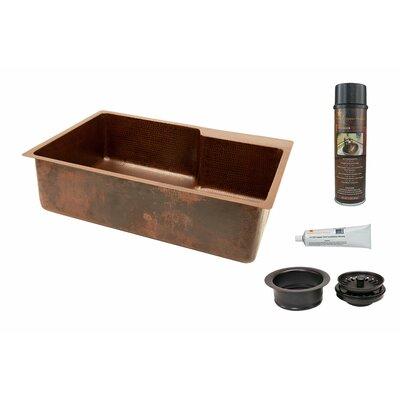 33 x 22 Hammered Copper Single Kitchen Sink