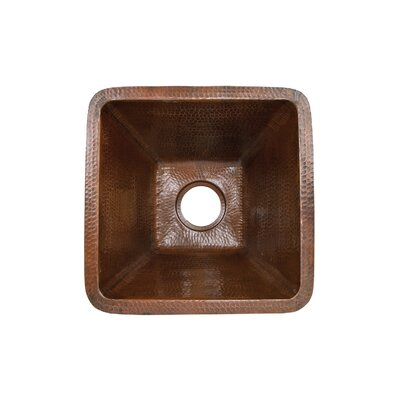 17 x 17 Square Hammered Bar Sink