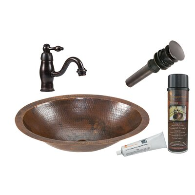 Metal Oval Undermount Bathroom Sink with Faucet