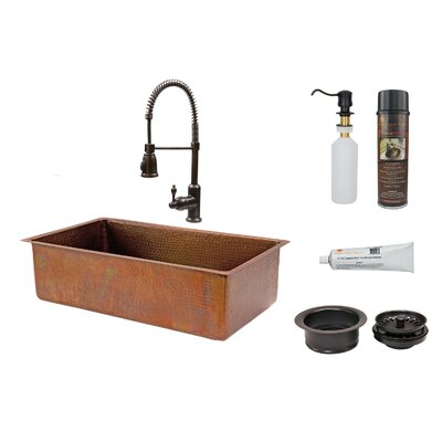 33 x 19 Basin Kitchen Sink with Faucet