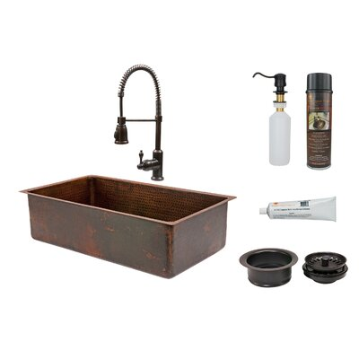 33 x 19 Single Basin Kitchen Sink with Faucet