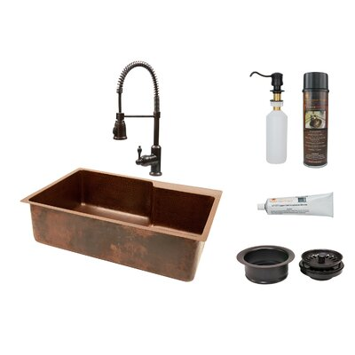33 x 22 Single Basin Kitchen Sink with Faucet