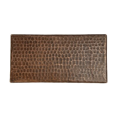 4 x 8 Hammered Copper Tile in Oil Rubbed Bronze