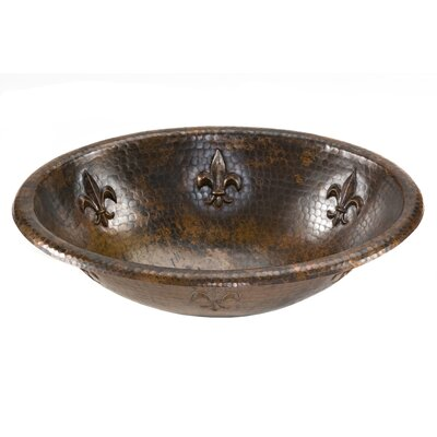 Fleur De Lis Self Rimming Bathroom Sink