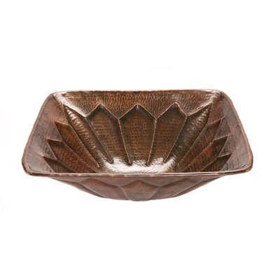 Feathered Square Vessel Bathroom Sink