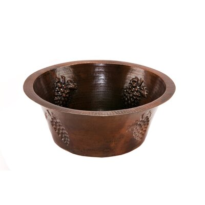 16 x 16 Round Copper Bar Sink
