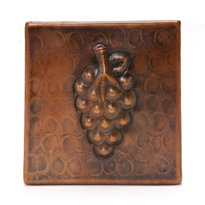 4 x 4 Copper Grape Tile in Oil Rubbed Bronze