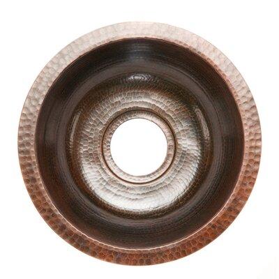 14 x 14 Round Hammered Copper Bar Sink