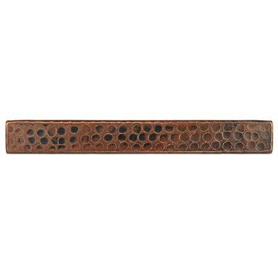 1 x 8 Hammered Copper Tile in Oil Rubbed Bronze