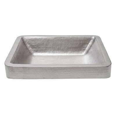 Metal Rectangular Vessel Bathroom Sink