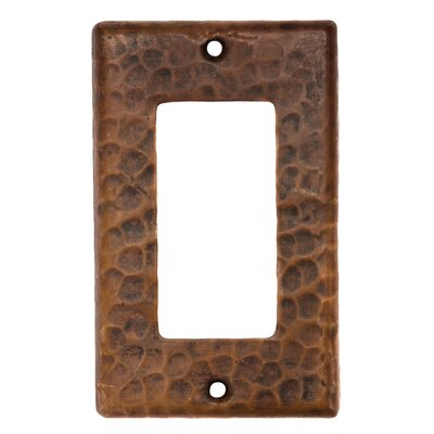 Copper Single Ground Fault Switchplate Cover