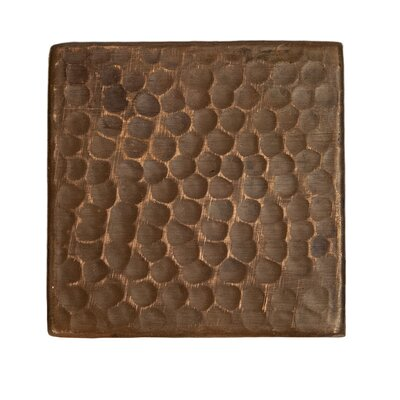 3 x 3 Hammered Copper Tile in Oil Rubbed Bronze